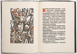 List Hradečanů Žižkovi Vánoční a novoroční blahopřání 1938 / Ktož sú boží bojovníci