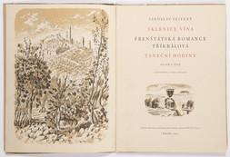 2 bibliofilie: Jan Květ: Cyril Bouda / Jaroslav Seifert: Sklenice vína, taneční hodiny