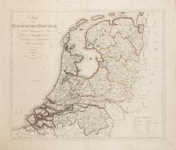 Verlag des Kunst und Industrie Comptoirs Mapa Batavské republiky