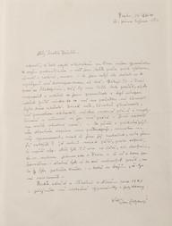 Dopis biskupu Karlovi Reichelovi