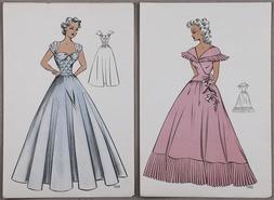L'avenir de la mode, Neue Dirndlkleider und Kostume, Album de Bal, L'avenir de la mode Robes (vzorníky mód 40. léta 20. stol.)
